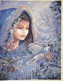 Картина Вышивка Девушка Зима Киев
