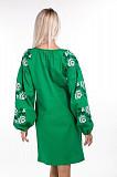 Льняное платье-вышиванка свободного кроя s/м Киев