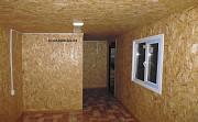 Дачный тёплый домик с обшивкой металлосайдингом под дерево. Тюмень