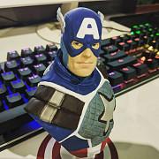 Капитан Америка бюст 3д принтер Смоленск