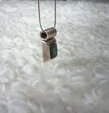 Серебряная подвеска с гелиотисом в стиле Ар-Деко Москва
