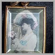 Позолоченная подвеска с фото, 1900-1920гг, Западная Европа Москва