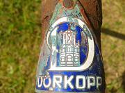 Шильда старого немецкого велосипеда Dürkopp Минск