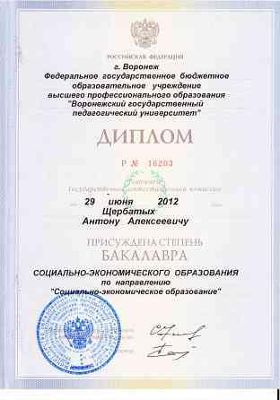 Репетитор по истории и обществознанию Воронеж