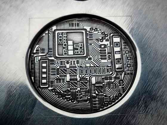 """Сувенір """"Bitcoin"""". Сучасна щаслива монета! Черкассы"""