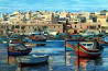 Продаю картину: автор Аксамитов Юрий, Malta, страна цветных лодок