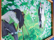 Картина Молодожены, 70-е гг. Волобуев. Подарок на свадьбу. Сертификат. Киев