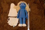 Игрушка вязаная (кукла) амигуруми Смурфетта (55 см) Северодонецк